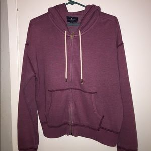 American Eagle Outfitters Jackets & Coats - Burgundy Zip Up Hopdie